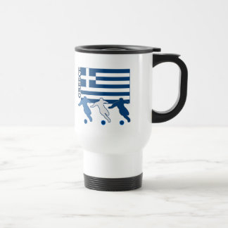Greece - Soccer Players Travel Mug