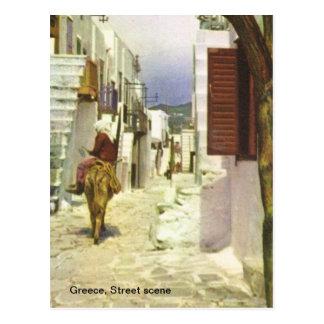 Greece, Street scene Postcard