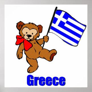 Greece Teddy Bear Poster