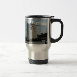 greece windmill travel mug