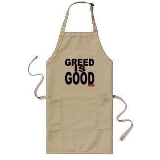 Greed is Good Long Apron