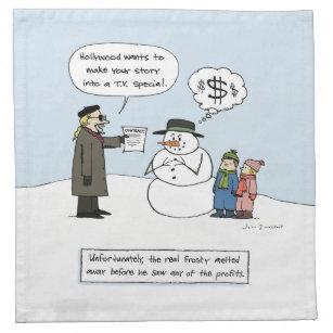 greedy frosty funny christmas cartoon napkin - Funny Christmas Cartoons