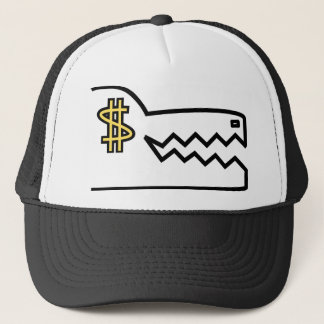 greedy greedy gator trucker hat