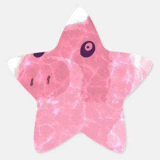 greedy pig star sticker