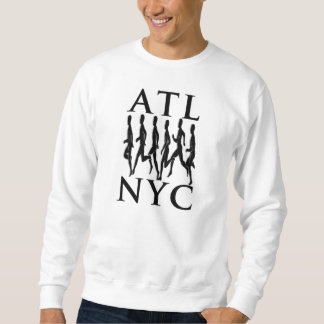 Greedy PIG x ATL Runs NYC | White Crew Sweatshirt