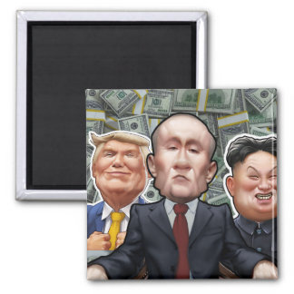 Greedy World Leaders Magnet