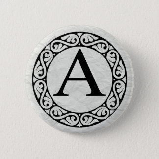 Greek Alphabet Letter Alpha 2 Inch Round Button