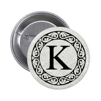 Greek Alphabet Letter Kappa 2 Inch Round Button
