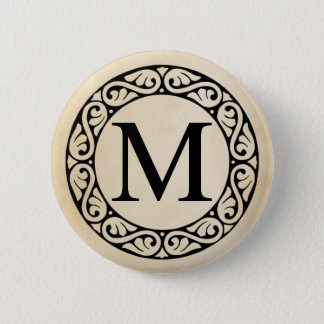 Greek Alphabet Letter Mu 2 Inch Round Button