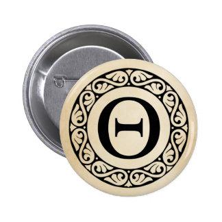 Greek Alphabet Letter Theta 2 Inch Round Button