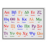Greek Alphabet Poster--Colourful upper & lower Poster