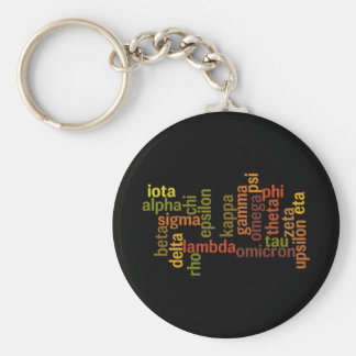 Greek Alphabet (Word Cloud) Keychain