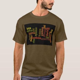 Greek Alphabet (Word Cloud) T-Shirt