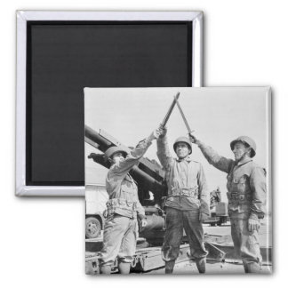 Greek-American Soldiers, 1943 Square Magnet