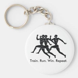 Greek Athlete Sports Running Winning Formula Basic Round Button Keychain