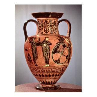 Greek black-figure amphora postcard