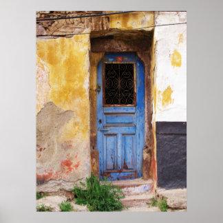 Greek Blue Door in Greece Poster