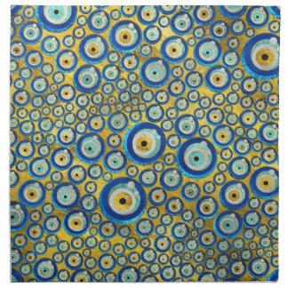 Greek Blue Glass Evil Eye Amulet Pattern Napkin