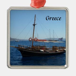 Greek Boat Metal Ornament