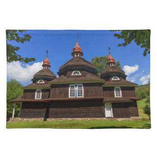 Greek catholic church, Nizny Komarnik, Slovakia Placemat