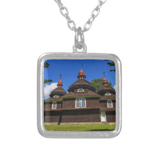 Greek catholic church, Nizny Komarnik, Slovakia Silver Plated Necklace