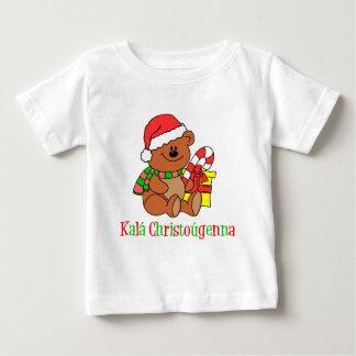 Greek Christmas Bear Baby T-Shirt