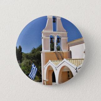 Greek Church In A Summer Day 2 Inch Round Button