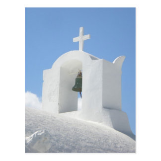 Greek Church in Santorini Postcard