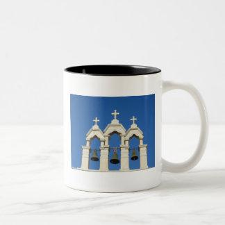 Greek church Two-Tone coffee mug