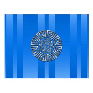 Greek Circle Motif Postcard