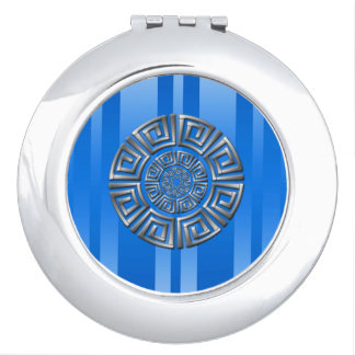 Greek Circle Motif Travel Mirrors
