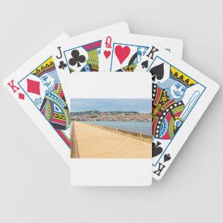 Greek City Port Argostoli with road on bridge Bicycle Playing Cards