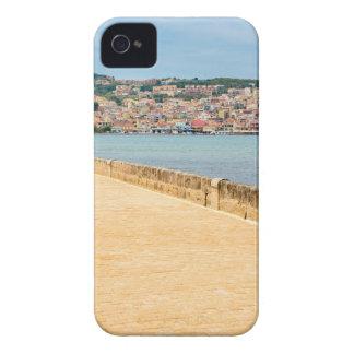 Greek City Port Argostoli with road on bridge iPhone 4 Case-Mate Cases