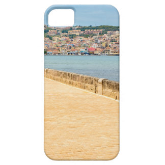 Greek City Port Argostoli with road on bridge iPhone 5 Cases