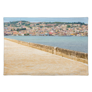 Greek City Port Argostoli with road on bridge Placemat