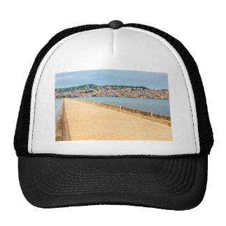 Greek City Port Argostoli with road on bridge Trucker Hat