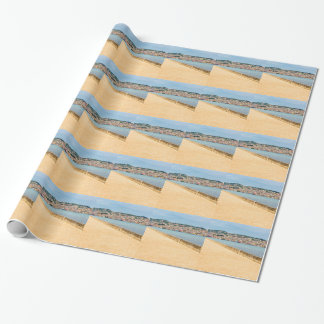 Greek City Port Argostoli with road on bridge Wrapping Paper