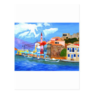 Greek coast postcard