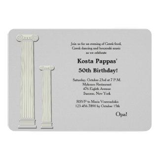 Greek Columns Invitation