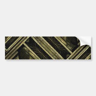 Greek Cross Wood Composition Bumper Stickers