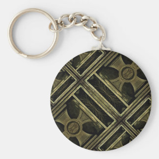 Greek Cross Wood Composition Keychain