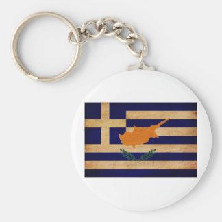 Greek Cyprus Flag Basic Round Button Keychain