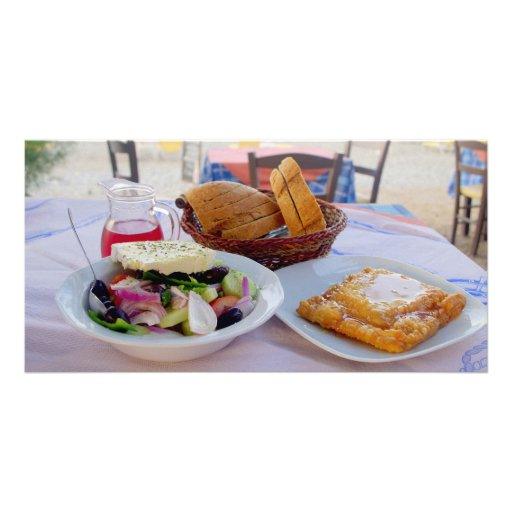 Greek delight picture card