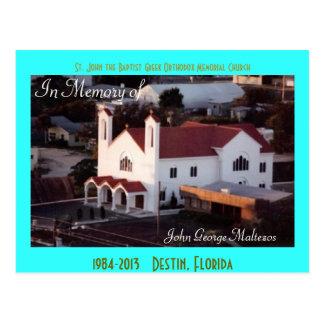 Greek Destin St John s Church Aerial Postcard