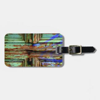 Greek door travel tag. luggage tag