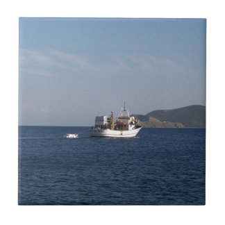 Greek Fishing Boat Ceramic Tiles