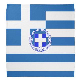 Greek flag bandana