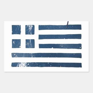 greek flag grunge stencil sticker
