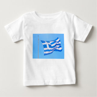 Greek flag in Athens Baby T-Shirt