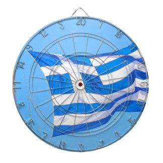Greek flag in Athens Dartboard